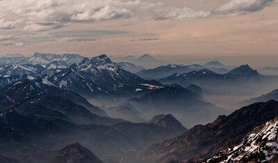 Sticker Blick vom Hoellengebirge in Richtung Salzburg, Österreich