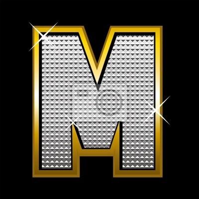 Bling bling Schrift type_letter M