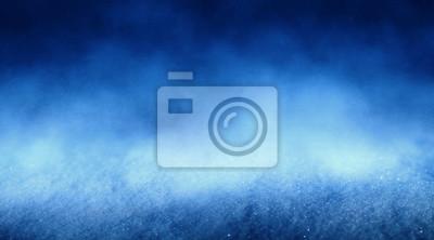 Sticker Blue abstract snow background, bokeh, smoke, glow