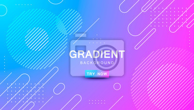 Sticker blue and pink gradient geometric shape background