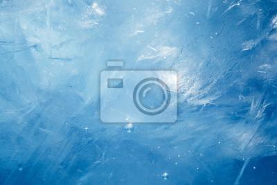 Sticker blue frozen texture of ice