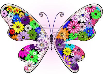 Blühende Phantasie floral Schmetterling