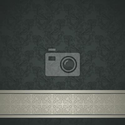Blumenmuster Hintergrund mit Zierleiste. Retro-Design