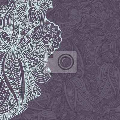 Blumenmuster mit Platz für Ihren Text. Abstract design