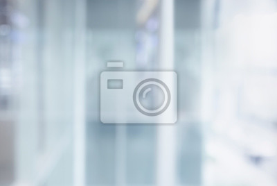 Sticker Blurred white abstract glass wall from modern building