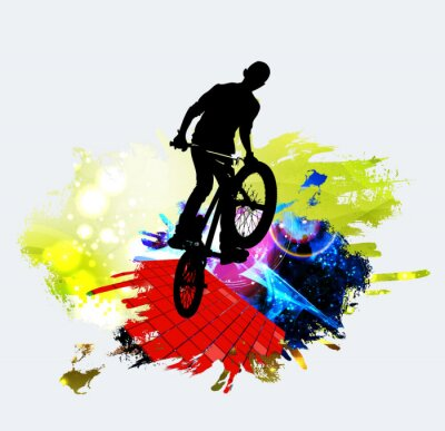Sticker BMX Jumper beim Tricksprung