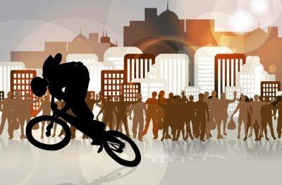 BMX Radfahrer
