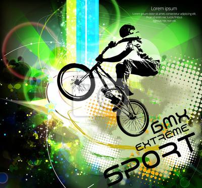 BMX Radfahrer. Vektor