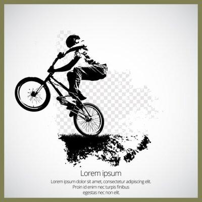 Bmx Radfahrer Vektor-Illustration. Bmx Sport Kunst. Bmx springen.