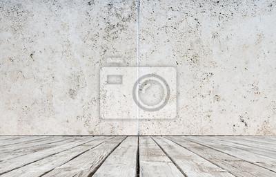Boden und Betonwand
