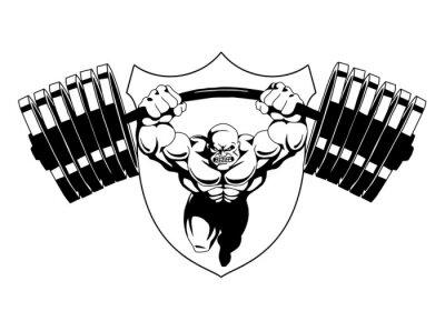 Bodybuilder logo fitness gym, vector, logo, design