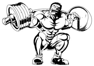 bodybuilder trains