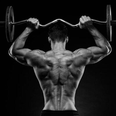 Sticker Bodybuilder zeigt seinen Rücken