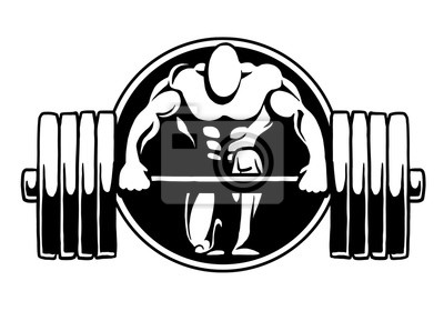 Bodybuilding-Logo-Fitness-Studio, Vektor, Logo, Design