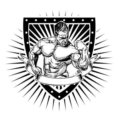 Sticker Bodybuilding-Schild
