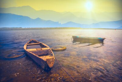 Sticker Boote an einem river_6