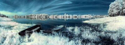 Sticker Boote auf dem Fluss