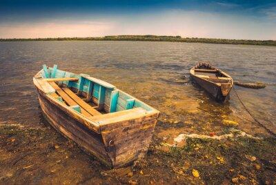 Sticker Boote auf einem river_2