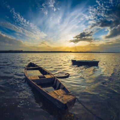 Sticker Boote auf einer Wolga