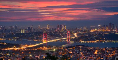 Bosphorus bridge in Istanbul, Turkey