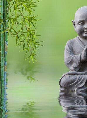 Sticker Bouddha enfant et bambou aquatique, zusammensetzung zen