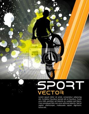 Boy springen mit bmx Bike-Vektor