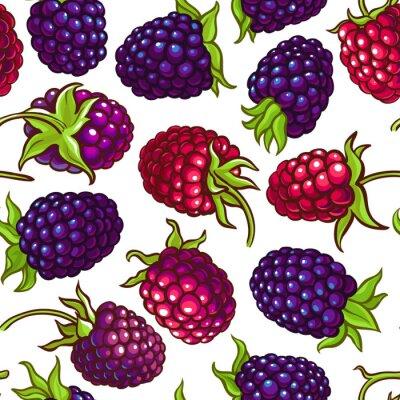 Sticker boysenberry vector pattern
