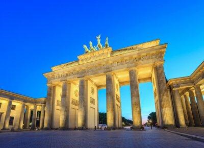 Sticker Brandenburger Tor bei Nacht - Berlin - Deutschland