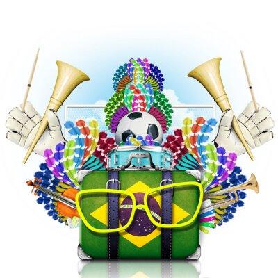 Sticker Brasilien, der Fußball-Weltmeisterschaft, Festival und Karneval