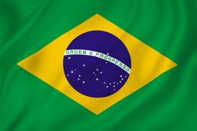 Sticker Brasilien-Flagge
