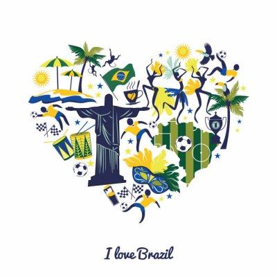 Sticker Brasilien Hintergrund
