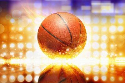 Sticker Brennender Basketball