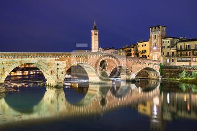 Bridge Ponte Pietra in Verona, Italy