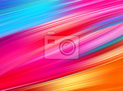 Sticker Bright abstract background with colorful swirl flow. Vector illustration