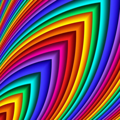 Sticker Bright colorful abstract lines for background. Artwork for creative design and art.