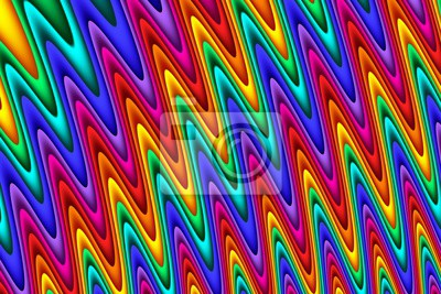 Bright rainbow wavy abstract background. Artwork for creative design and art.