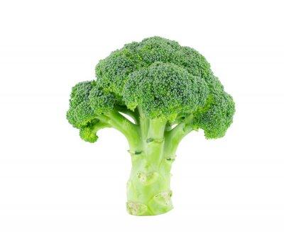 Sticker Broccoli isoliert auf weiß mit Clipping-Pfad