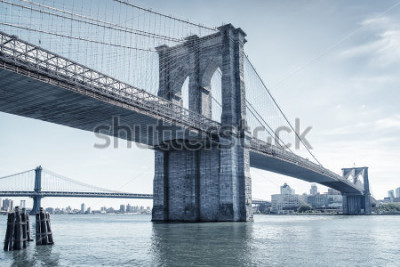 Sticker brooklyn bridge in new york