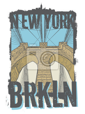 Brooklyn bridge, New York city,