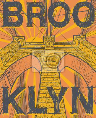 Brooklyn bridge, New York city, silhouette