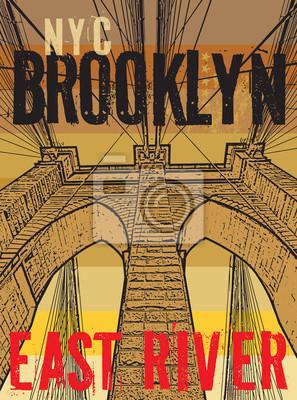 Brooklyn-Brücke, New York City, Schattenbild