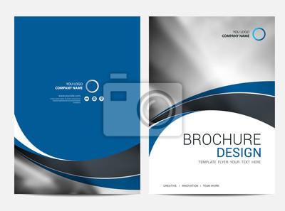 Sticker Broschüre Vorlage Jahresbericht Hintergrund für Business-Design