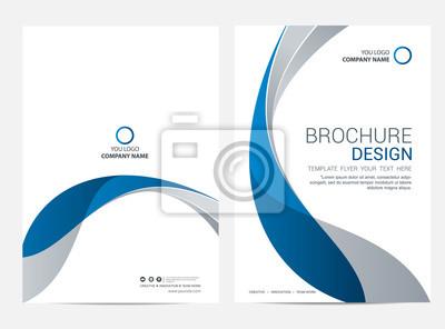 Sticker Broschürenschablonenfliegerdesign-Vektorhintergrund