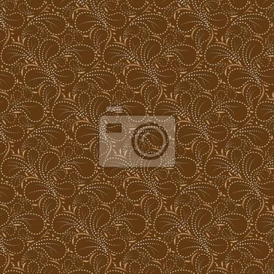 Brown Hintergrund mit Blumenmuster dotted line