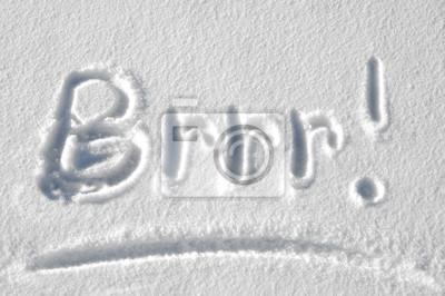 Sticker Brrr ist es kalt