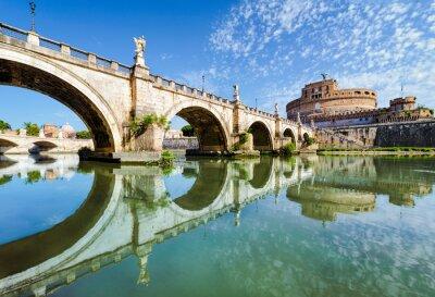 Sticker Brücke und die Burg Sant Angelo, Rom