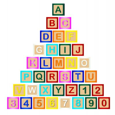 Sticker Buchstaben-Pyramide