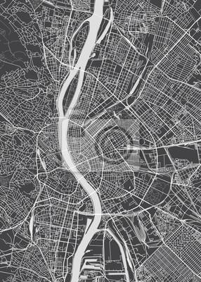Budapest Stadtplan, detaillierte Vektorkarte
