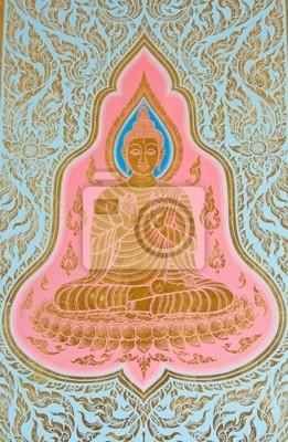 Buddha gemalt auf Kirche Wand, Thailand