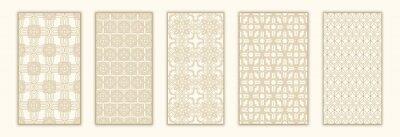 Sticker Bundle arabian seamless pattern with arabic and islamic ornament